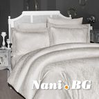 Луксозен спален комплект памучен сатен, жакард - MISRA TAS