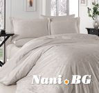 Луксозен спален комплект памучен сатен, жакард - TRUDY TAS