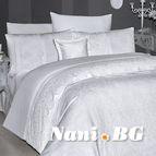 Луксозен спален комплект VIP сатен - HILLARY BEYAZ