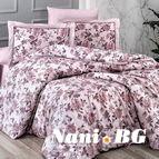 Луксозен спален комплект памучен сатен Deluxe - AGORA PUDRA