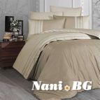 Луксозен спален комплект памучен сатен Deluxe - SQUARE DUET Bade