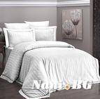Луксозен спален комплект памучен сатен Deluxe - NOVEL LINE BEYAZ