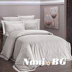 Луксозен спален комплект памучен сатен Deluxe - NOVEL LINE KUM