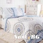 Спално бельо колекция бюджет 100% памук - БЛУ