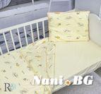 Бебешки к-т с олекотена завивка Трико - Жълти Мечета