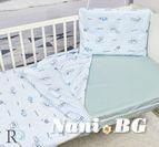 Бебешки к-т с олекотена завивка Трико - Сини Мечета