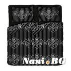 Спално бельо памучен сатен - Либърти II черно