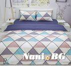 Спално бельо памучен сатен Нора