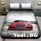 3Dспално бельо с Коли - 4968 + надпис