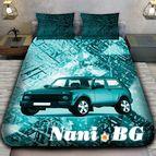 3Dспално бельо с Коли - 6855 + надпис