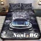 3Dспално бельо с Коли - 5952 + надпис