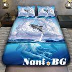 3Dспално бельо с животни - Делфин