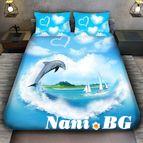 3Dспално бельо с животни - Делфинче