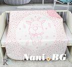 Бебешко памучно одеяло - Розово Еленче