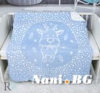 Бебешко памучно одеяло - Синьо Еленче