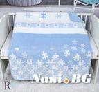 Бебешко памучно одеяло - Син Пъзел