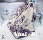 Одеяло памук - Пеперуди в Лила