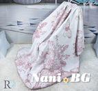 Одеяло памук - Пеперуди в Розово