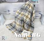 Одеяло памук - Скоч Сиво и Черно