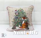 Декоративни Коледна Възглавница Горски Животни