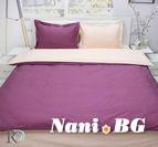 Спално бельо памучен сатен - Розе и Праскова