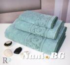 Хавлиена кърпа микропамук с кант Михаела - Мента