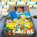 Детско 3D спално бельо - Симпсон