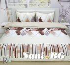 Спално бельо памучен сатен Ирида