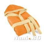 Детски халат за баня в оранжево
